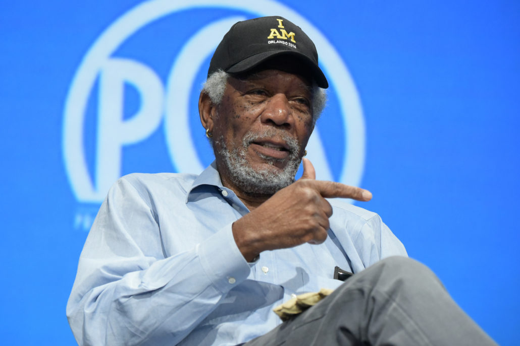 Morgan Freeman speaks at the 8th Annual Produced By Conference presented by Producers Guild of America held at Sony Picture Studios on Saturday, June 4, 2016, in Culver City, Calif. (Photo by Richard Shotwell/Invision for Producers Guild of America/AP Images)