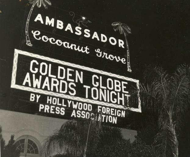 Vintage Golden Globes signage.