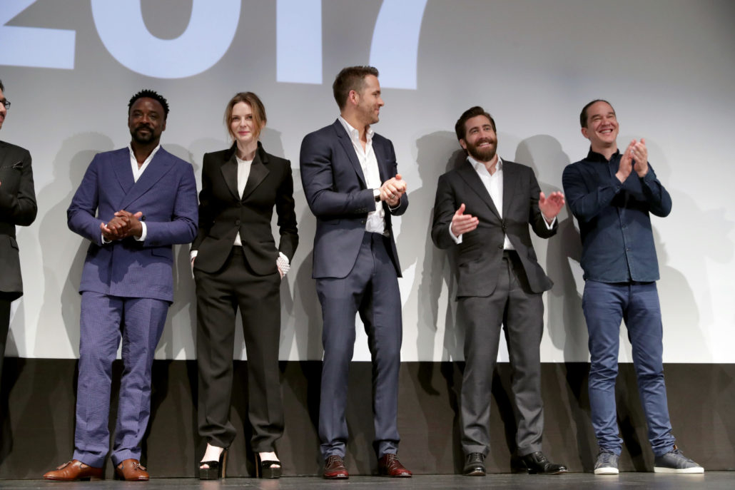 "Cast and crew of ""Life"" seen at Columbia Pictures World Premiere of ""Life"" the movie at SXSW 2017 on Saturday, March 18, 2017, in Austin, TX. (Photo by Eric Charbonneau/Invision for Sony/AP Images)"