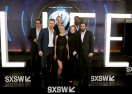 "Hiroyuki Sanada, Ryan Reynolds, Director Daniel Espinosa, Olga Dihovichnaya, Rebecca Ferguson, Ariyon Bakare  and Jake Gyllenhaal seen at Columbia Pictures World Premiere of ""Life"" the movie at SXSW 2017 on Saturday, March 18, 2017, in Austin, TX. (Photo by Eric Charbonneau/Invision for Sony Pictures/AP Images)"
