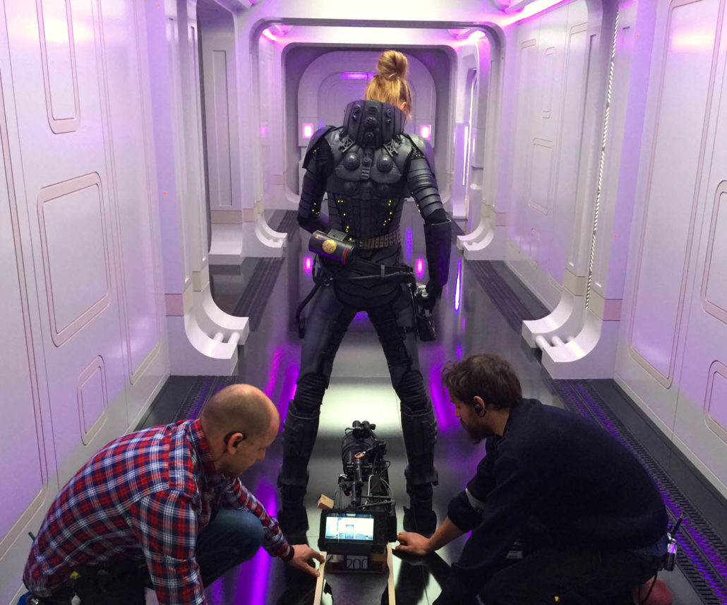 "M-2 The crew prepares for a scene with star Cara Delevingne (center) of Luc Besson's ""Valerian and the City of a Thousand Planets"". Photo credit: Luc Besson Photo courtesy of STX Entertainment Motion Picture Artwork © 2017 STX Financing, LLC. All Rights Reserved."