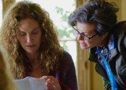 Rachel Feldman directing Amy Brenneman in HERE NOW