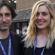 Noah Baumbach with Greta Gerwig at Telluride 2017.