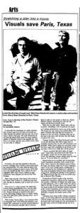 New Mexico Daily Lobo first film review by Quendrith Johnson, Feb. 25, 1985