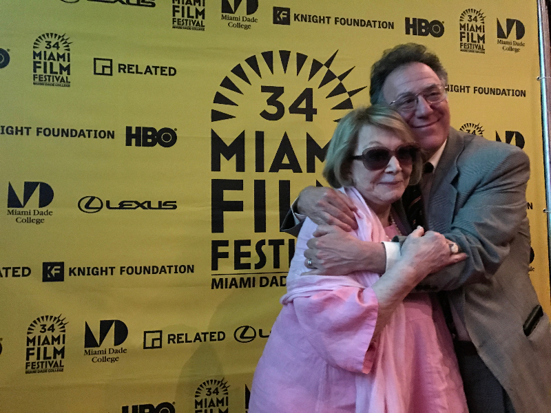 Bill Scheft & Joan Kron at Miami Film Festival.