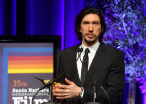 SANTA BARBARA, CALIFORNIA - JANUARY 17: Adam Driver speaks onstage at the Outstanding Performers Of The Year Award Honoring Scarlett Johansson And Adam Driver Presented by Belvedere Vodka during the 35th Santa Barbara International Film Festival at Arlington Theatreon January 17, 2020 in Santa Barbara, California. (Photo by Matt Winkelmeyer/Getty Images for SBIFF)