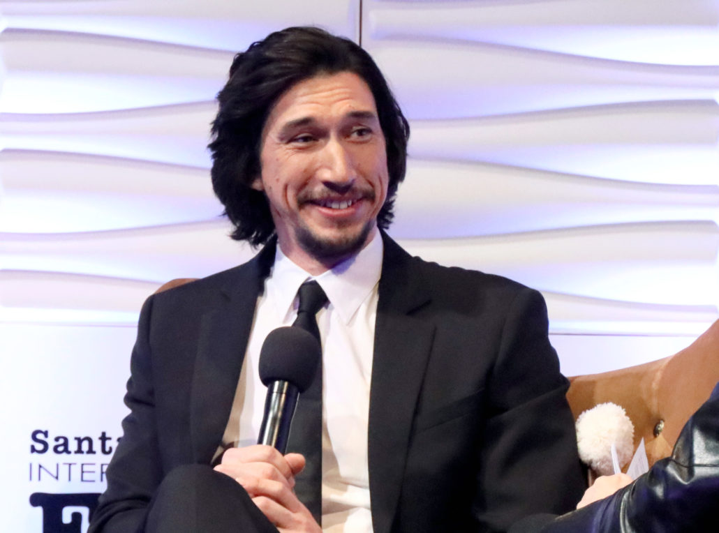 SANTA BARBARA, CALIFORNIA - JANUARY 17: Adam Driver speaks onstage at the Outstanding Performers Of The Year Award Honoring Scarlett Johansson and Adam Driver Presented by Belvedere Vodka during the 35th Santa Barbara International Film Festival at Arlington Theatreon January 17, 2020 in Santa Barbara, California. (Photo by Rebecca Sapp/Getty Images for SBIFF)