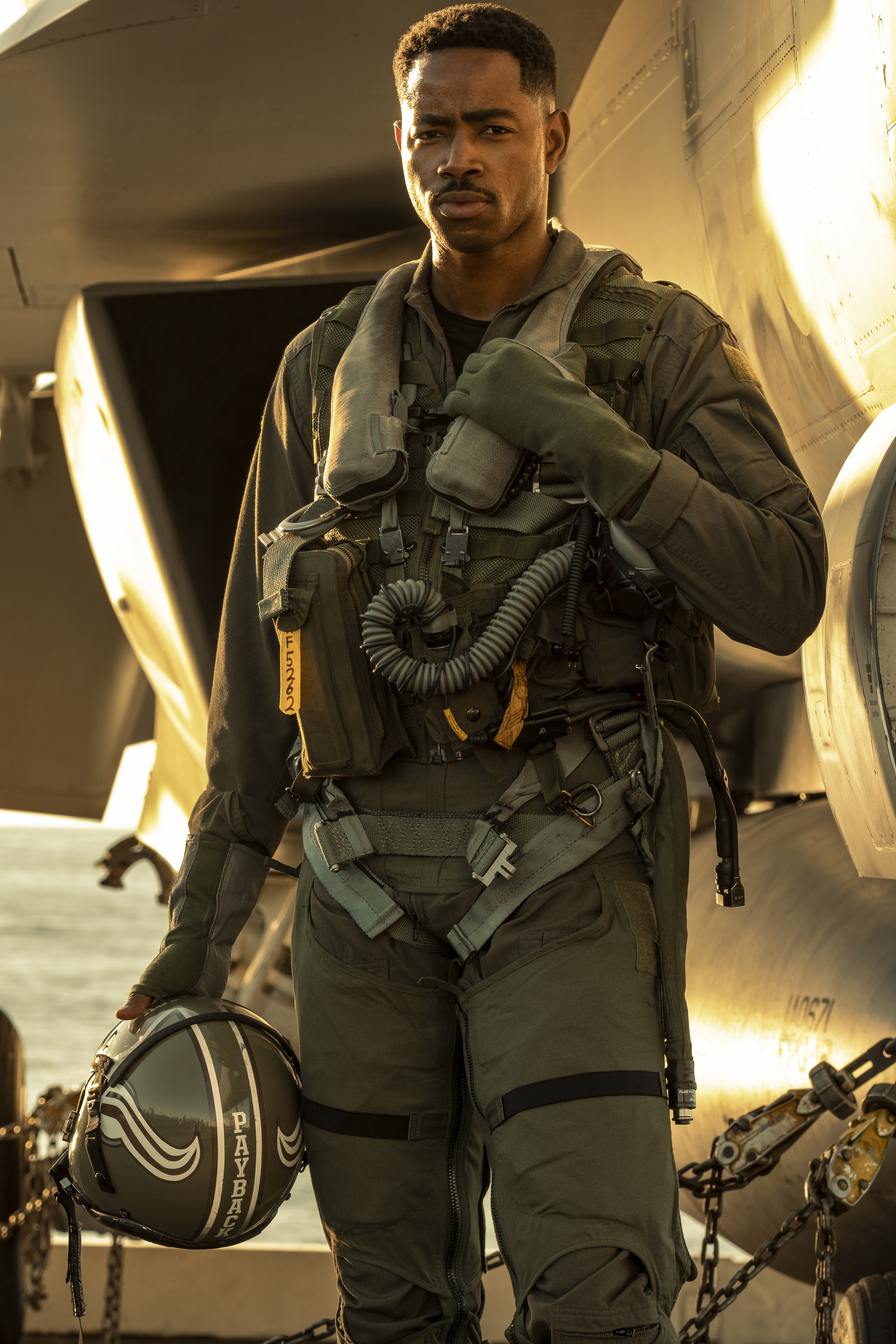 """Jay Ellis plays """"Payback"""" in Top Gun: Maverick from Paramount Pictures, Skydance and Jerry Bruckheimer Films."""