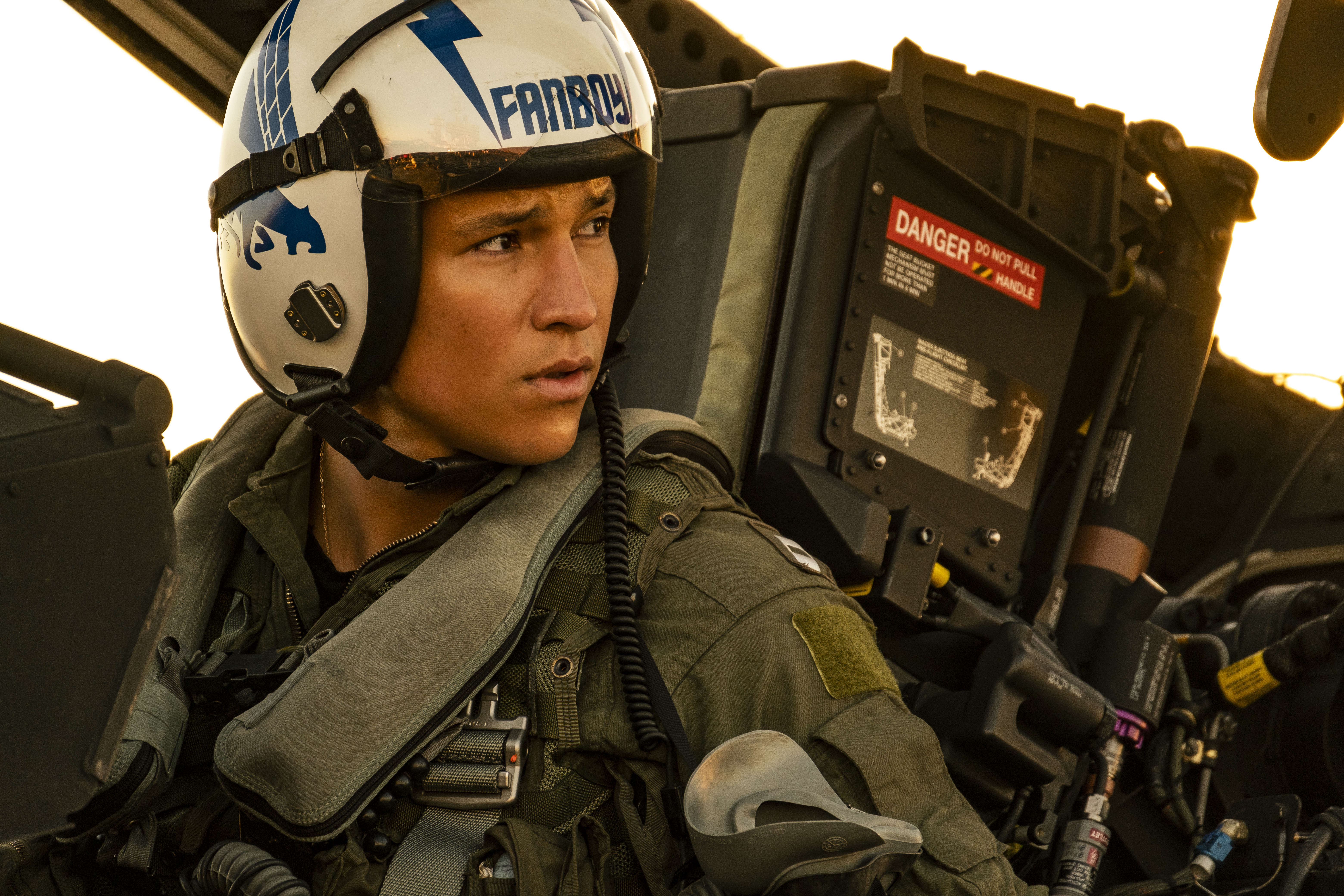 """Danny Ramirez plays """"Fanboy"""" in Top Gun: Maverick from Paramount Pictures, Skydance and Jerry Bruckheimer Films."""
